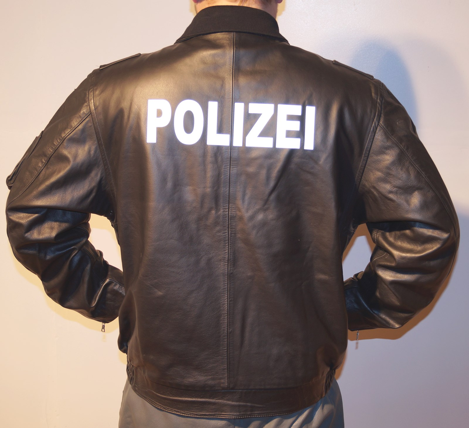 low priced 6d453 2c840 Original Polizei Lederjacke - Konkurse Zerbst