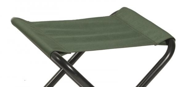 camping klappstuhl ohne lehne oliv klapphocker konkurse. Black Bedroom Furniture Sets. Home Design Ideas