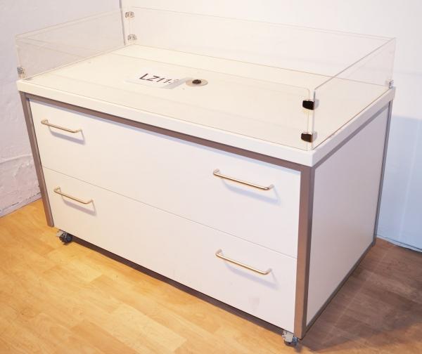 schemberg w hltisch schrank aktionstisch textiltisch verkaufsst nder sehr stabil rollbar gondel. Black Bedroom Furniture Sets. Home Design Ideas