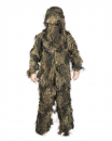 Ghillie Suit Anti Fire 4-teilig Basic Woodland